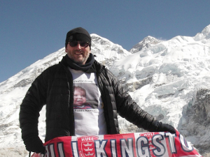Our Close friend Rich embarked on a three week trek to base camp Everest