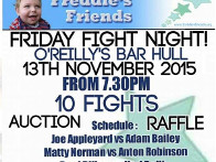 2015: Friday Fight Night at O'Reillys Bar proceeds to Freddies