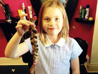 2015: Mia raised a massive £365 by cutting off her hair for Freddie's Friends.