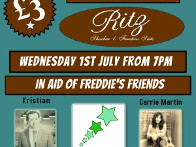 2015: Ritz Showbar Function Suite Entertainment in aid of Freddies