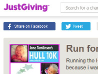 2015: Steve Tunleys JustGiving page for his Freddie supporting Hull 10K run
