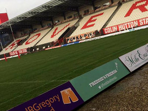 2017: Thank you to Len for advertising our charity at Craven Park.
