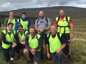 2016: Joe and the City of Hull Rugby League team who completed the three peaks.