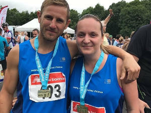 2017: Paul and Joanne run the half marathon