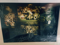 2018: Raffled 2016 Hull FC Challenge Cup winners signed print.