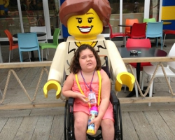 Evie has a weekend in legoland